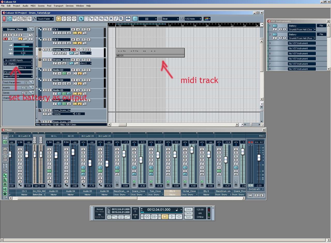 drum click track machine